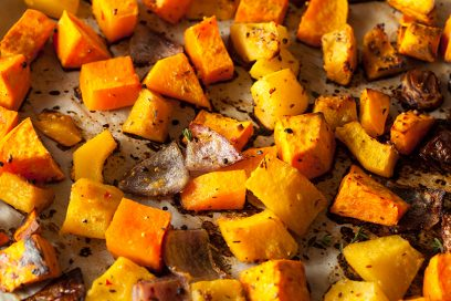 Paula Recommends …Roasted Butternut Squash w/ Apple & Pomegranate